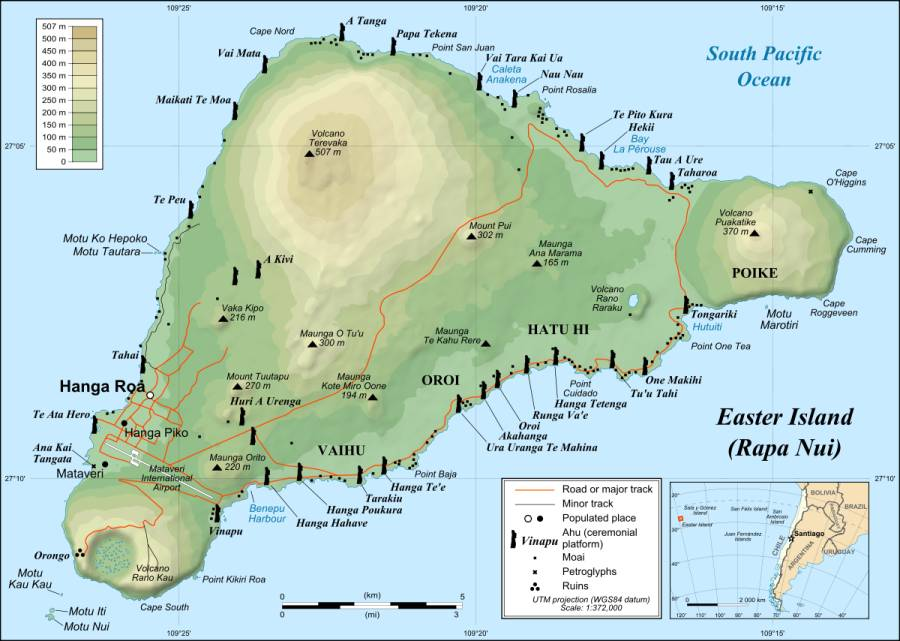 Easter Island Map